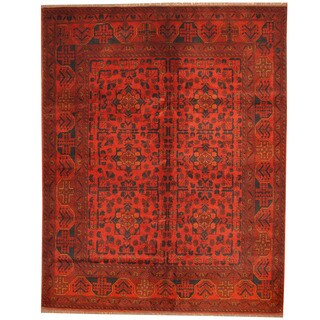 Herat Oriental Afghan Hand-knotted Tribal Khal Mohammadi Wool Rug (5' x 6'4)
