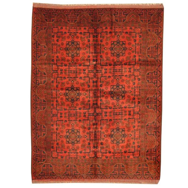 Herat Oriental Afghan Hand-knotted Tribal Khal Mohammadi Wool Rug (5' x 6'7) - 5' x 6'7