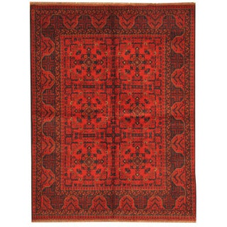 Herat Oriental Afghan Hand-knotted Tribal Khal Mohammadi Wool Rug (5' x 6'6)