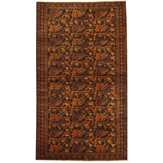 Herat Oriental Afghan Hand-knotted Tribal Balouchi Wool Rug (3'10 x 6'8)