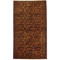 Herat Oriental Afghan Hand-knotted Tribal Balouchi Wool Rug (3'10 x 6'8) - 3'10 x 6'8