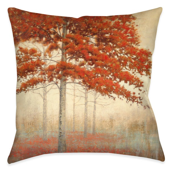 Laural Home Amber Fall Foliage Decorative 18-inch Throw Pillow
