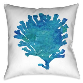 Laural Home Aqua Coral Decorative 18-inch Throw Pillow