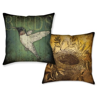 Laural Home Bird Lodge Decorative 18-inch Throw Pillow