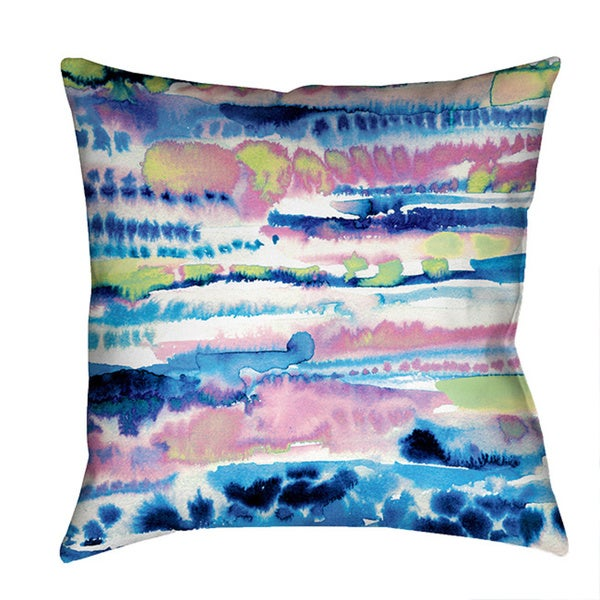 Laural Home Colorful Watercolor Decorative 18-inch Throw Pillow