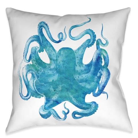 Laural Home Deep Aqua Decorative 18-inch Throw Pillow
