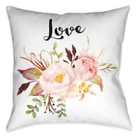 Laural Home Floral Bohemian Love Decorative 18-inch Throw Pillow
