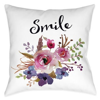 Laural Home Floral Bohemian Smile Decorative 18-inch Throw Pillow