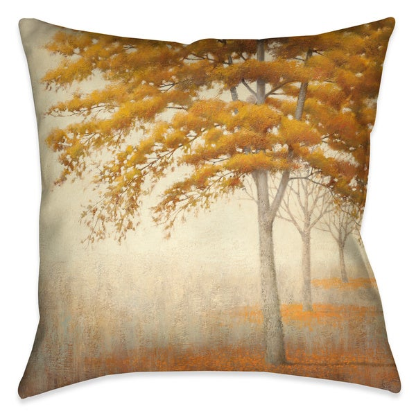 Laural Home Gold Fall Foliage Decorative 18-inch Throw Pillow