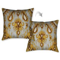 Laural Home Grey Gold Abstract Decorative 18-inch Throw Pillow
