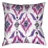 Laural Home Laural Home Abstract Purple Decorative 18-inch Throw Pillow