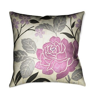 Laural Home Lavender Rose II Decorative 18-inch Throw Pillow