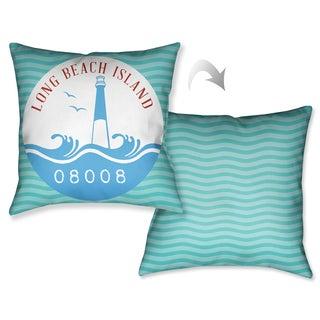 Laural Home LBI Beach Decorative 18-inch Throw Pillow