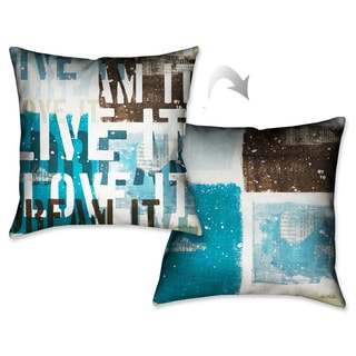 Laural Home Live and Love I Decorative 18-inch Throw Pillow
