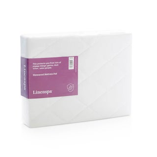 LINENSPA Waterproof Mattress Pad with Stretch Skirt (More options available)