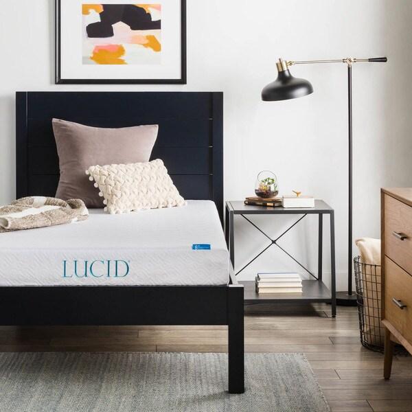 LUCID 6-inch Twin XL-size Gel Memory Foam Mattress