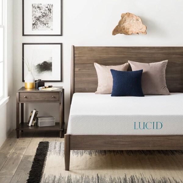 LUCID Comfort Collection 8-inch Queen-size Gel Memory Foam Mattress