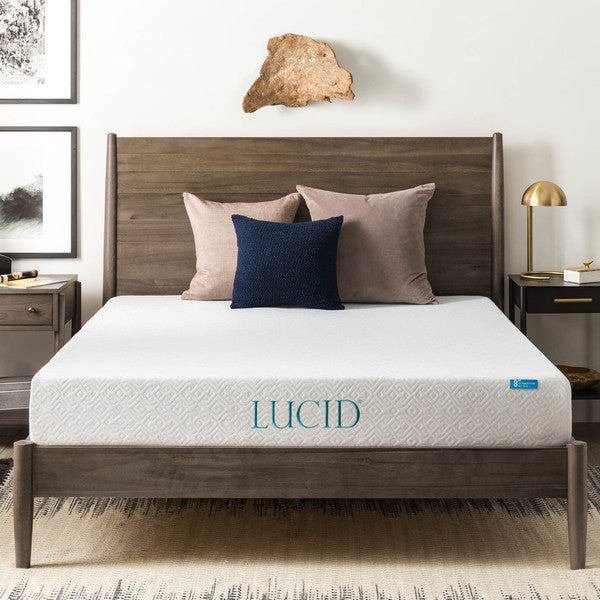 lucid 8inch twin xlsize gel memory foam mattress