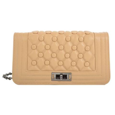 Mellow World 'Anastasia' Quilted Crossbody Clutch Handbag - S