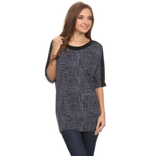 MOA Collection Women's Abstract Pattern Top