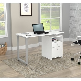 Inval Larcinia White Writing Desk