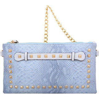 Mellow World Blue Rockstud Clutch