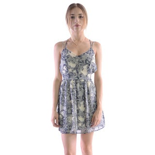 MOA Collection Women's Open Back Floral Dress
