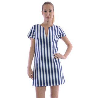 MOA Collection Women's Striped Shift Dress