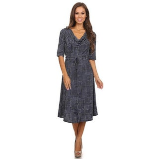 MOA Collection Women's Abstract Pattern A-Line Dress