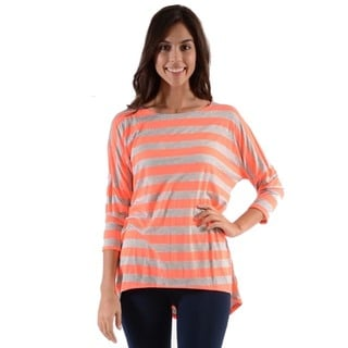 MOA Collection Women's Striped Dolman Sleeve Top