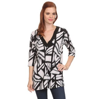 MOA Collection Women's Abstract Print Top