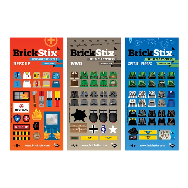 BrickStix My Action Building Block Sticker Set