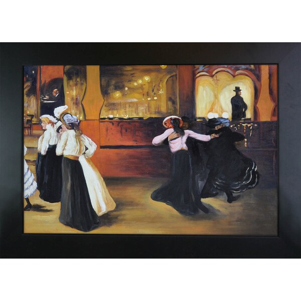 Alfred Henry Maurer 'La Bal Bullier' Hand Painted Framed Canvas Art