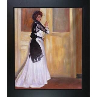 Alfred Henry Maurer 'Girl in White' Hand Painted Framed Canvas Art