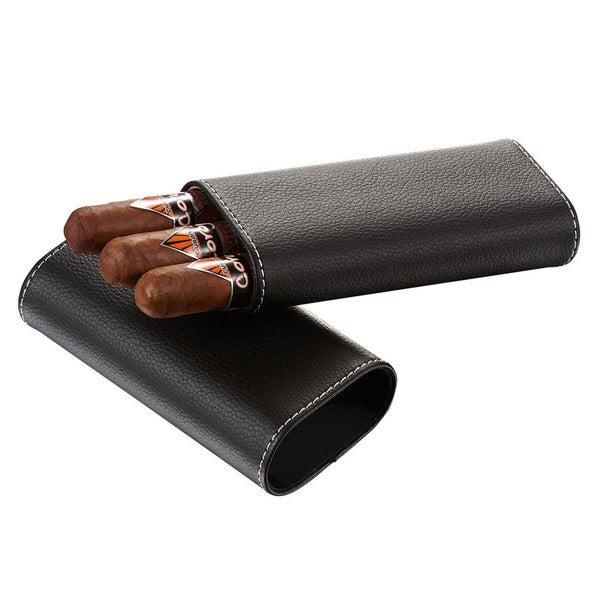 Visol Eclipse Black Leatherette Cigar Case