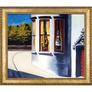 Edward Hopper 'August in the City, 1945' Hand Painted Framed Canvas Art