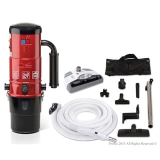 Prolux CV12000 Central Vacuum Unit System with Electric Hose Power Nozzle Kit