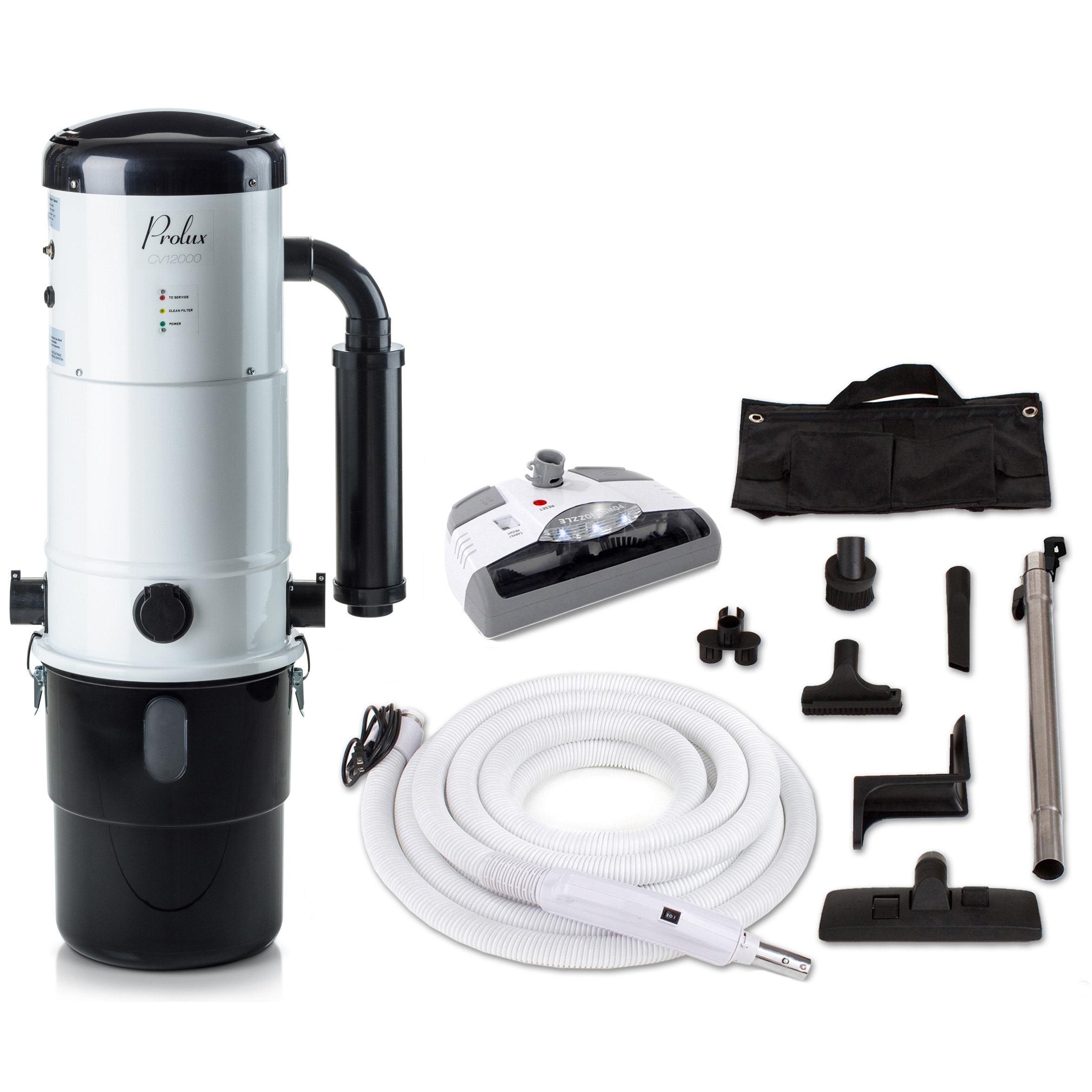 PROLUX CV12000 Central Vacuum Unit System with Electric H...