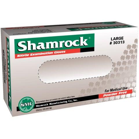 Shamrock Powder-free Textured Blue Nitrile Exam Gloves (Case of 1000)