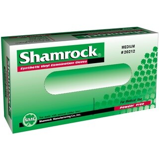 Shamrock Powder-free Clear Vinyl Exam Gloves (Case of 1000) (2 options available)