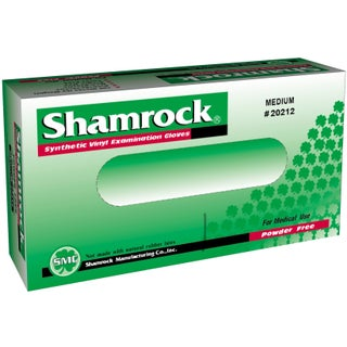 Shamrock Powder-free Clear Vinyl Exam Gloves (Case of 1000) (4 options available)