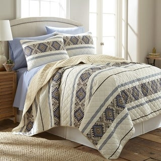 Micro Flannel Lodge Stripe 3-piece Quilt Set