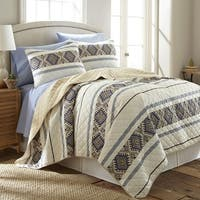 Shavel Micro Flannel Lodge Stripe Quilt Mini Set
