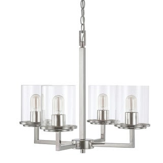 Austin Allen & Company Sloan Collection 4-light Polished Nickel Chandelier