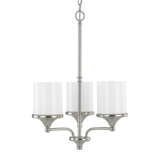 Austin Allen & Company Piedmont Collection 3-light Polished Nickel Chandelier