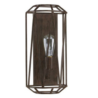 Austin Allen & Company Finn Collection 1-light Textured Brown Wall Sconce