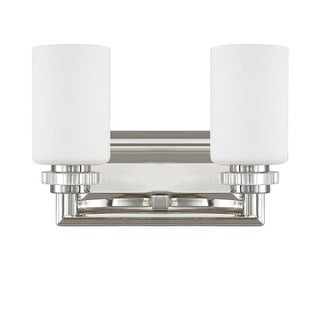 Austin Allen & Company Transitional 2-light Polished Nickel Bath/Vanity Light