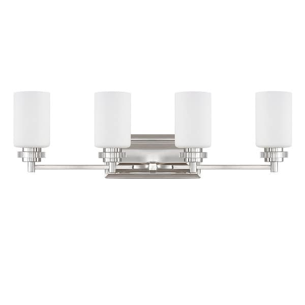 Bathroom Vanity Lights Polished Nickel austin allen & company transitional 4-light polished nickel bath