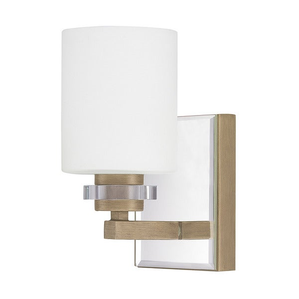Austin Allen & Company Transitional 1-light Brushed Gold Wall Sconce - Free Shipping Today ...