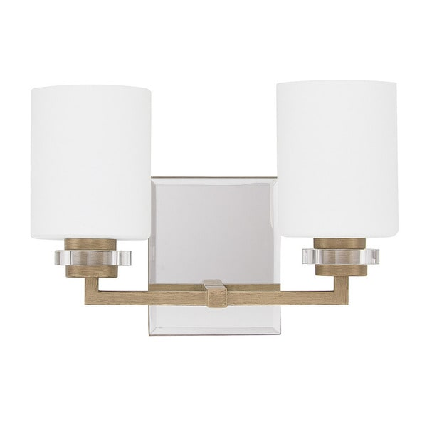 Austin Allen amp; Company Transitional 2light Brushed Gold Bath/Vanity